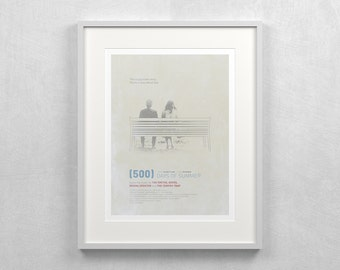 "500 Days of Summer Poster ~ 12x16"" Minimalist Movie Poster"