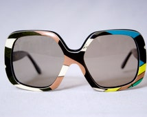 EMILIO PUCCI Eyewear Vintage 1960s Oversized Square Sunglasses Frame Extra Large