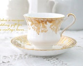Mid Century English Fine Bone China Paragon By Appointment to Her Majesty the Queen Tea Cup and Saucer Wedding Gift Inspiration - c. 1950s