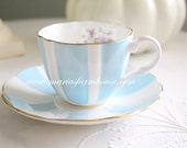 Vintage English Fine Bone China Tea Cup and Saucer by Royal Seagrave, Gifts for Her, Replacement China
