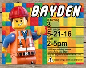Lego Invitation, Lego Birthday Invitation, Lego Movie Invitation, Lego Birthday, Lego Party, Lego Party Invitation, PRINTABLE/PRINTED