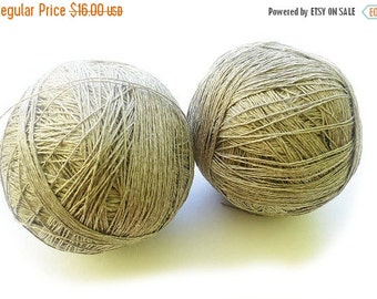 20%SALE 3ply  linen yarn linen thread 100 Percentpure linen natural linen flex thick yarn crochet gray yarn