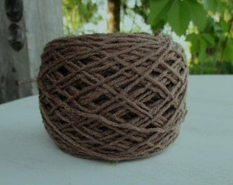 Brown Vintage yarn 300 g for hand knitting 010