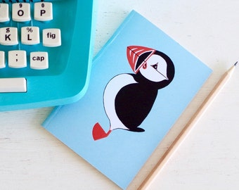A6 Mr Puffin Notebook - Notepad - Sketchpad