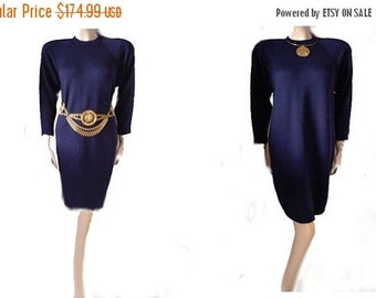End of Summer Sale Vintage St John Dress Santana Knit dress designer dress nightfall dress st john sportswear dress 80s dress 90s dress knit