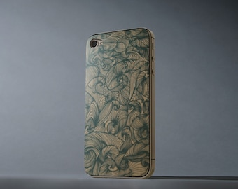Marina Print by Anna Shay - iPhone 4/4S Wood Skin - Made in the USA - FREE Shipping