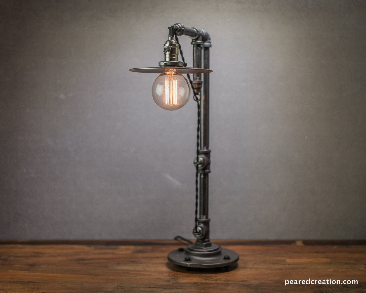 Pulley Light Table Lamp Vintage Table Lamp Industrial