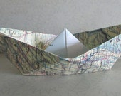 """custom order for Wendy: 10 paper sail boats 8"""""""
