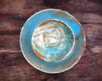 Modern Matte Green Turquoise Plate