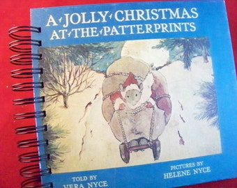 Vintage Christmas book blank journal diary planner Patterprints mouse mice