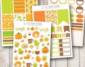 Fall Treats Weekly Kit - Erin Condren, Set of 117