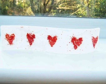 Heart Mini Fused Glass Wave