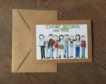 5x7 kraft folded greeting card with envelope