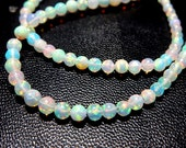 Ethiopian Opal Smooth Round Ball Beads 3 to 5MM Approx 18'' AAA High Quality  Wholesale  Price