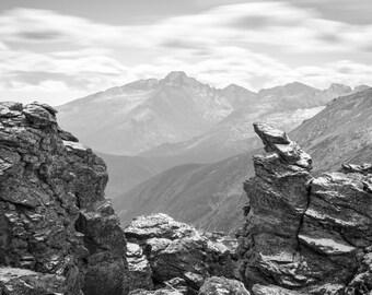 Colorado Landscape Photography Print - Rocky Mountain National Park - Longs Peak Winter - MetalPrint Option - 11x14 16x20 20x30 24x36 30x40