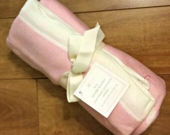 Monogrammed stroller blanket/lightweight/girls knit blanket/personalized stroller blanket/baby shower gift/crib blanket