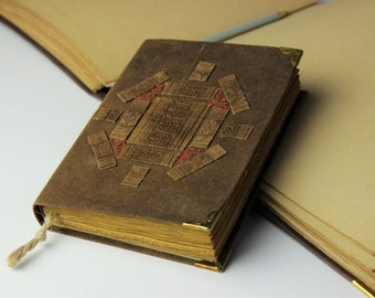 Antique Journal, diary, notebook, batik fabric, blank book, travel journal