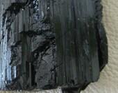 Large Black Tourmaline - A high-grade authentic Rough Stone -  Nugget Schorl Tourmaline