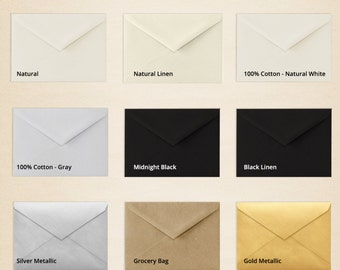 4 BAR Envelopes (3 5/8 x 8 1/8 - Pick A Color (50 Qty.)