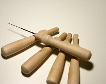 Wooden Needle Felting holder (holds 1 needle) Needle Felting Tool, Wool Felting Tool