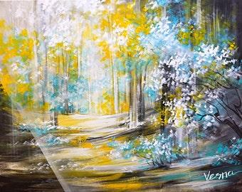 "Somewhere Bright - 36""x48""x1.5"" Acrylic on Canvas"