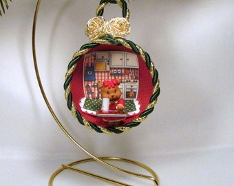 Teacup Ornament With Miniature Little Bear