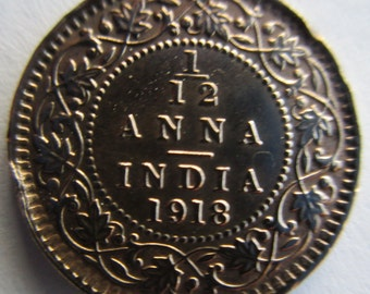 1918 India Coin/Token - One Twelfth Anna