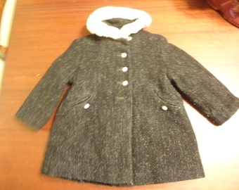 Child/Toddler Satin Lined Wool Coat  (T)
