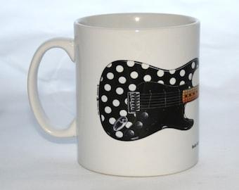 Guitar Mug. Buddy Guy's Polka Dot Fender Stratocaster