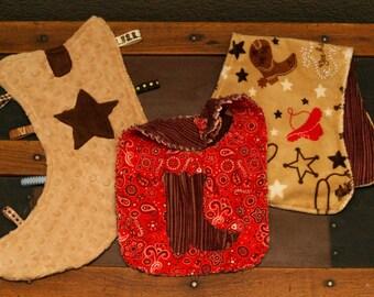 Boot Snugglie, Bib & Burp Cloth Gift Set
