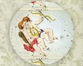 Gemini stars melamine plate