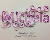 Paper quilling: Quilling, Custom Name, Baby Name, Framed art, 6 or more letters