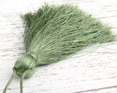 Shale Green, Large and Thick Silk Tassel- Jewelry Supplies  // TAS-020