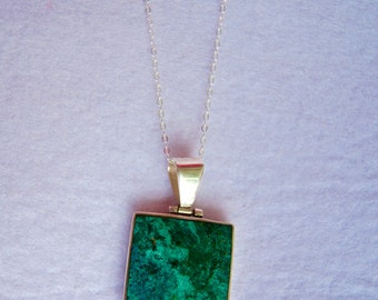 Silver Peruvian Turquoise Pendant