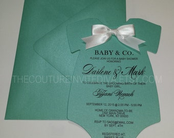 Baby And Co. Onesie Invitation | Baby U0026 Co. Baby Shower Invitation | Robin
