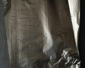 100 -6.25x9.25 ~BLACK Trinket Merchandise Bags, Small Jewelry Bags, Plastic Retail Bags, Small Item Merchandise Bags