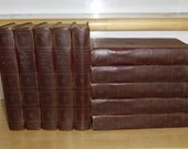 Vintage Book Set - 10 Victor Hugo Classics, Standard Books 1931, Les Miserables, Hunchback of Notre Dame, Ninety Three The Man Who Laughs