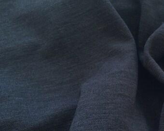 "Black Semi Sheer Jersey Knit Fabric - Lightweight - Listing for 1 yard x 60"" - F-07-12"