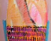 Abstract painting abstract art abstract canvas art original mixed media painting modern contemporary textured naive outsider raw bohemian