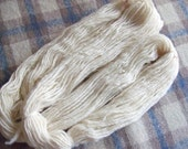 Hand Spun Falkland Singles Yarn, 3.5 ozs (100 gms), Chunky weight. natural white, un-dyed