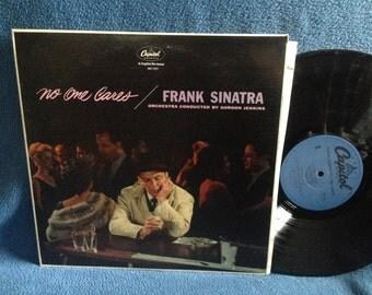 "Vintage, Frank Sinatra - ""No One Cares"" Vinyl LP Record Album, Gordon Jenkins, Rat Pack, Classics, None But The Lonely Heart,"
