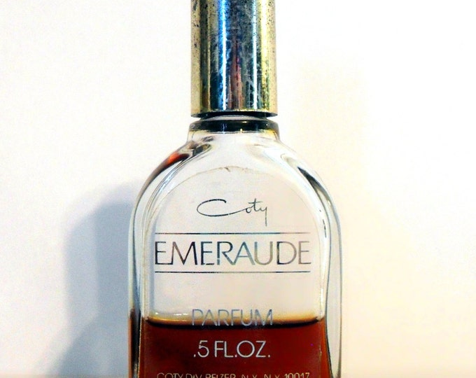 Vintage 1960s Emeraude by Coty 0.5 oz Parfum Splash CLEARANCE PERFUME