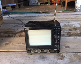 Vintage UHF/VHF Portable Miniature TV