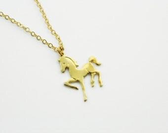 Gold Pony Necklace