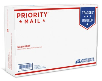 USPS Small Box Priority Upgrade, Add On, Shipping Upgrade, Postage, Priority Mail