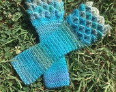 Crochet Crocodile Stitch/Dragon Scale Gloves - Arm Warmers - Fingerless Gloves