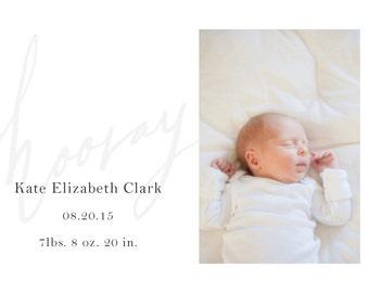 Hooray - Photo Birth Announcement Template