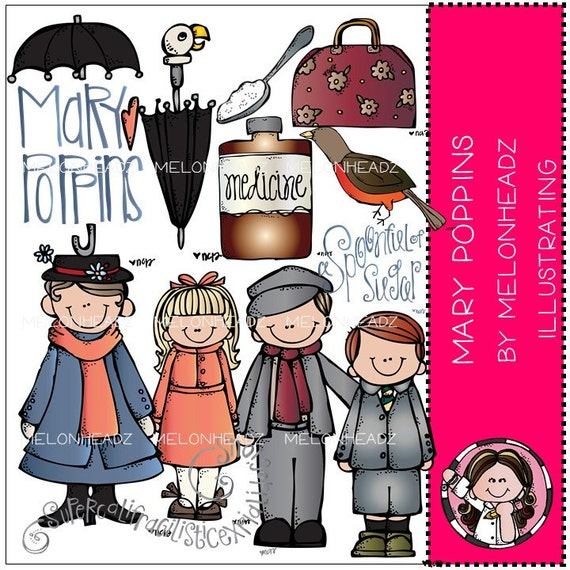 Items similar to Mary Poppins Inspired clip art on Etsy