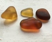 Sea glass nuggets: Shades of gold and brown sea glass nuggets (EQ)