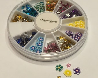 500 piece nail art mix, 4-6 mm (S9)